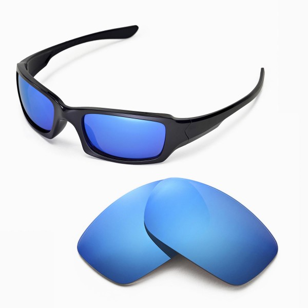 Walleva Ice Blue Polarized Replacement Lenses for Oakley Fives Squared  Sunglasses e6dcc7411700