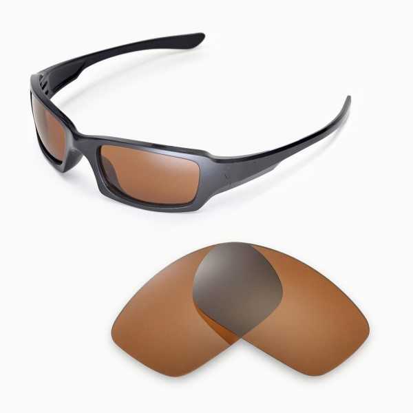 578c0cc21ce ... Oakley Fives Squared Sunglasses. Color   Polarized Lenses   Brown