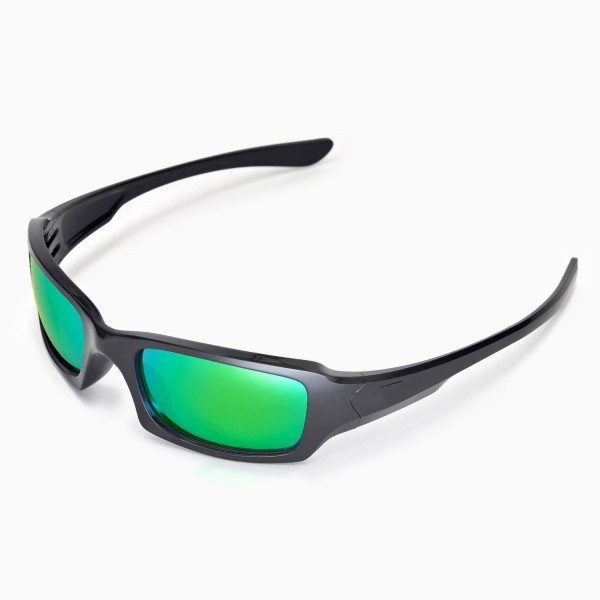 2368a849f2 Walleva Replacement Lenses for Oakley Fives Squared Sunglasses - Multiple  Options Available (Emerald Mirror Coated - Polarized)