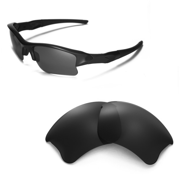 4d299205c3 Walleva Replacement Lenses for Oakley Flak Jacket XLJ Sunglasses - Multiple  Options Available (Black - Polarized). Color   Polarized Lenses   Black