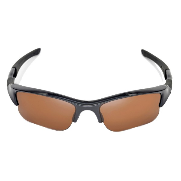 Walleva Brown Polarized Replacement Lenses For Oakley Flak