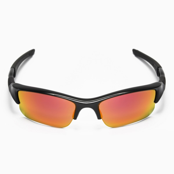 Walleva Polarized Fire Red Ice Blue Replacement Lenses