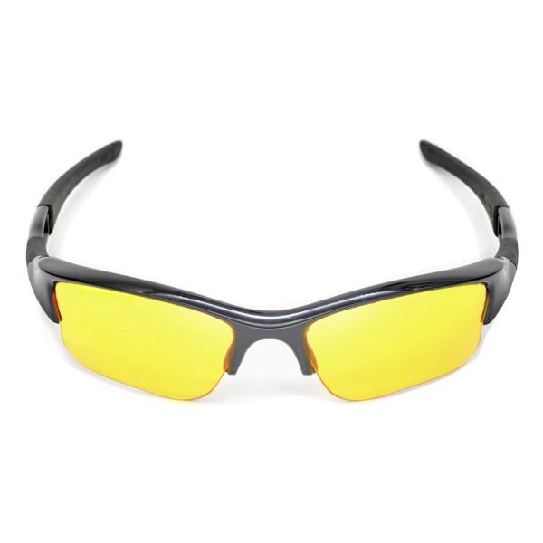 60081b1731 Walleva Yellow Replacement Lenses for Oakley Flak Jacket XLJ Sunglasses.  Color   Non-Polarized Lenses   Yellow
