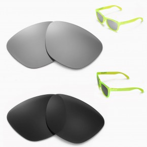 d06237f687d 1 Options. Frogskins. New Walleva Black + Titanium Polarized Replacement  Lenses For Oakley Frogskins Sunglasses