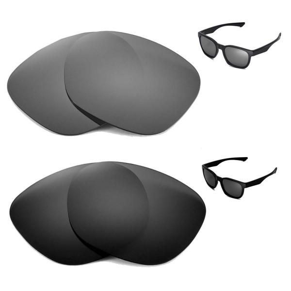 0620faa7f3f New Walleva Black + Titanium Polarized Replacement Lenses for Oakley Garage  Rock Sunglasses
