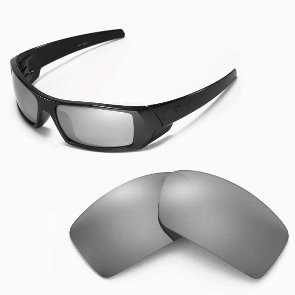 Walleva Replacement Lenses for Oakley Gascan Sunglasses - Multiple Options  Available (Titanium Mirror Coated - Polarized)