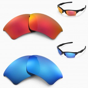 e0d701c2880 1 Options. Half Jacket 2.0 XL. New Walleva Polarized Ice Blue + Fire Red ...