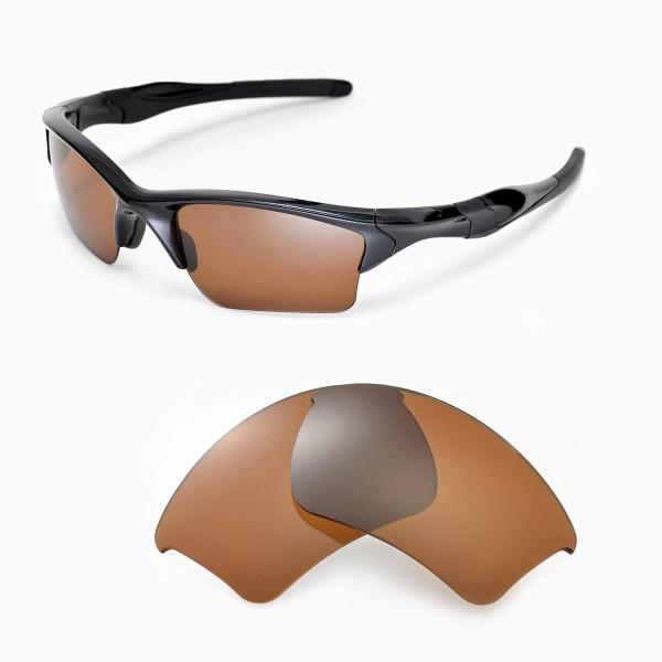 Oakley Half Jacket 2 0 Xl >> Walleva Brown Polarized Replacement Lenses For Oakley Half Jacket 2 0 Xl Sunglasses