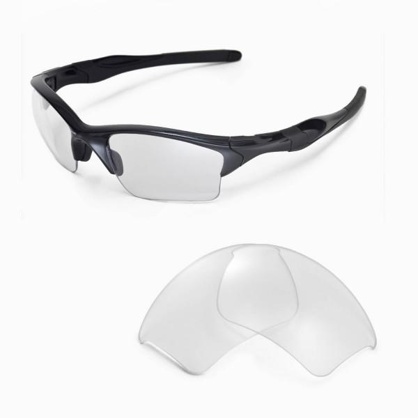 Oakley Half Jacket 2 0 Xl >> Walleva Clear Replacement Lenses For Oakley Half Jacket 2 0 Xl Sunglasses