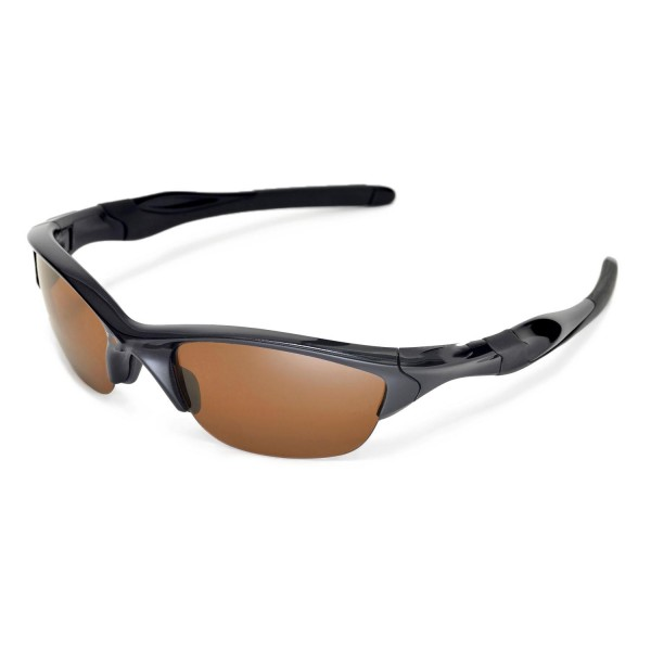 Walleva Brown Polarized Replacement Lenses For Oakley Half