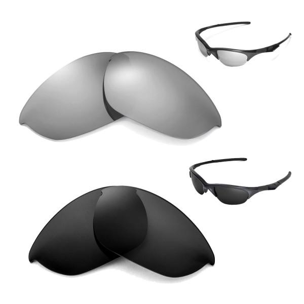 8dff19fa4a Walleva Titanium + Black Polarized Replacement Lenses for Oakley ...