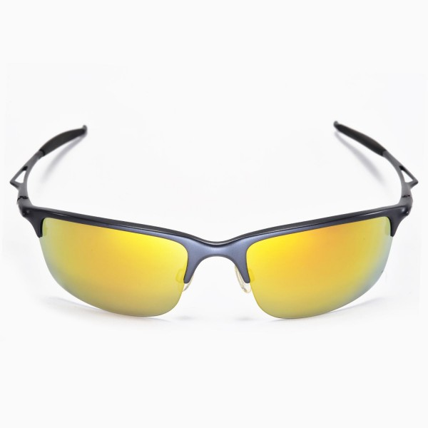 0d12ca5a5c Walleva Replacement Lenses for Oakley Half Wire 2.0 Sunglasses - Multiple  Options Available (24K .