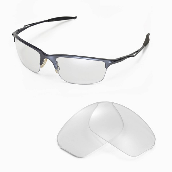 12957a6d72 Walleva Clear Replacement Lenses for Oakley Half Wire 2.0 Sunglasses. Color    Non-Polarized Lenses   Clear