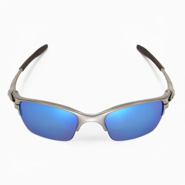 Walleva Fire Red Ice Blue Polarized Replacement Lenses