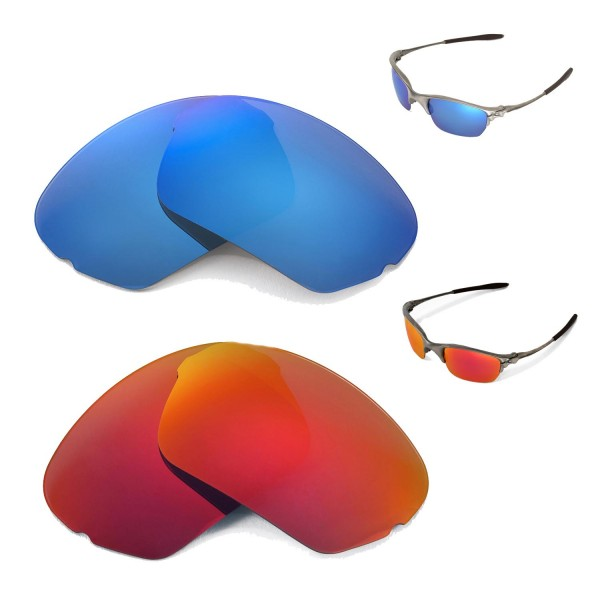 f0ccf553450 Walleva Fire Red + Ice Blue Polarized Replacement Lenses for ...