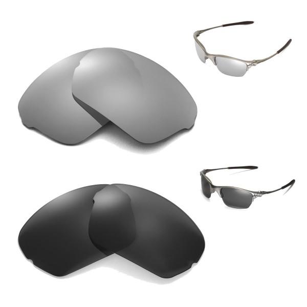 c742b735ed Walleva Titanium + Black Polarized Replacement Lenses for Oakley ...