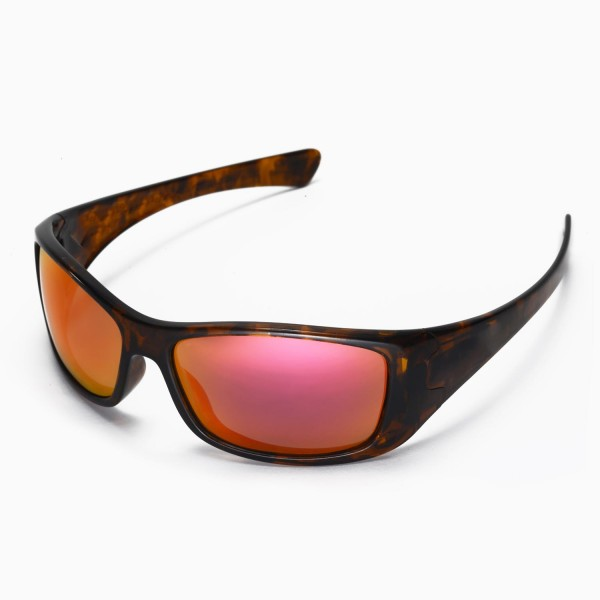 b6da416d4e Walleva Replacement Lenses for Oakley Hijinx Sunglasses - Multiple Options  Available (Fire Red Mirror Coated - Polarized)