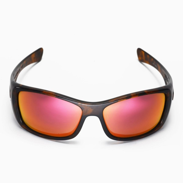 0891a8b0df4 Walleva Replacement Lenses for Oakley Hijinx Sunglasses - Multiple Options  Available (Fire Red Mirror Coated - Polarized)
