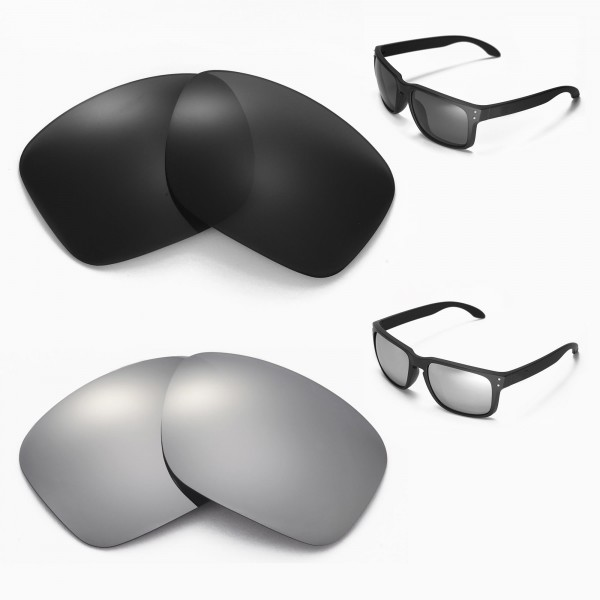 62f9036d08 New Walleva Black + Titanium Polarized Replacement Lenses For ...