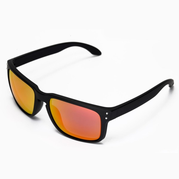 f134dd1e74d Walleva Replacement Lenses for Oakley Holbrook Sunglasses - Multiple  Options Available (Fire Red .
