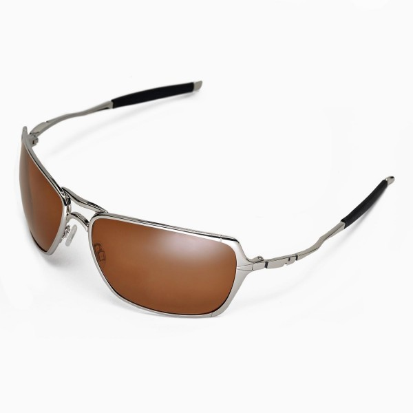 89d6151add Walleva Brown Polarized Replacement Lenses for Oakley Inmate ...