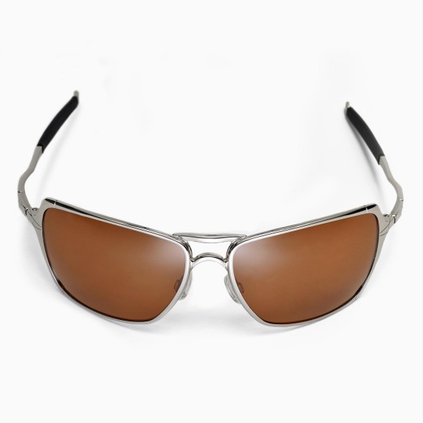 8450e0280a Walleva Brown Polarized Replacement Lenses for Oakley Inmate Sunglasses