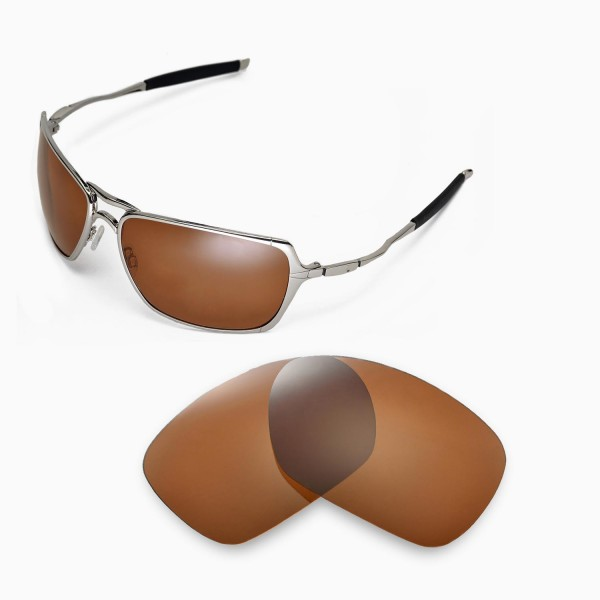 983d438718c Walleva Brown Polarized Replacement Lenses for Oakley Inmate ...
