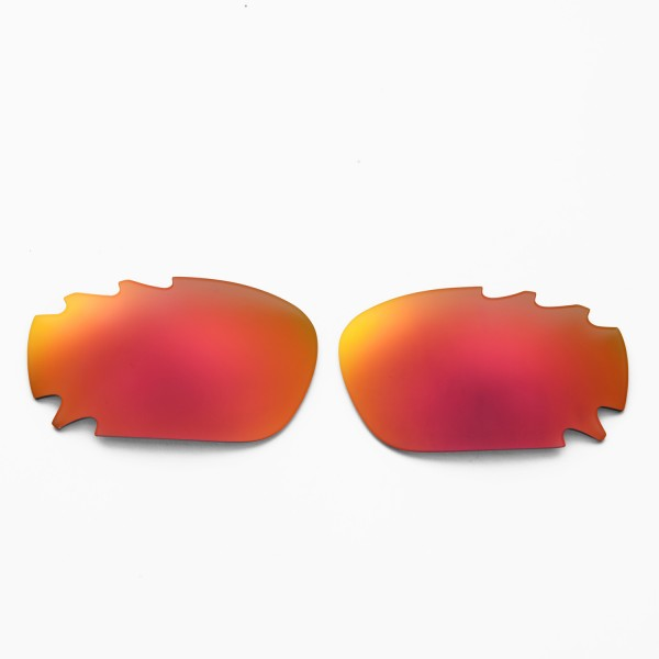 e87d41c1c2 Walleva Polarized Fire Red + Ice Blue Replacement Vented Lenses for Oakley  Racing Jacket Sunglasses. Color