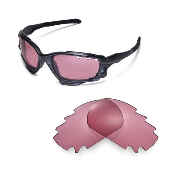 f298e8416bd Walleva Pink Replacement Vented Lenses for Oakley Jawbone ...
