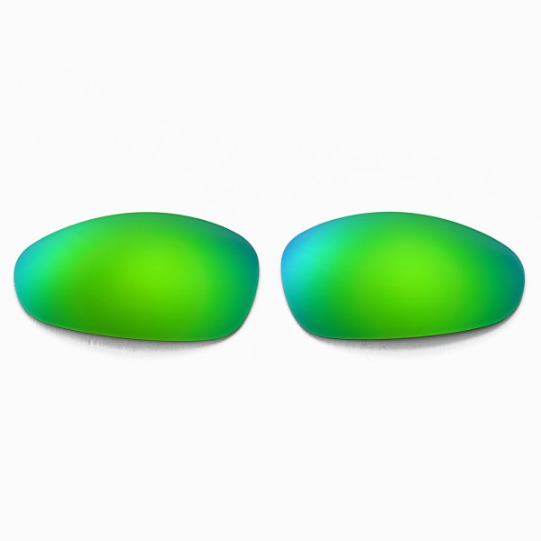c2b7d2897fa98 Walleva Replacement Lenses for Oakley Juliet Sunglasses - Multiple Options  Available (Emerald Mirror Coated - Polarized)