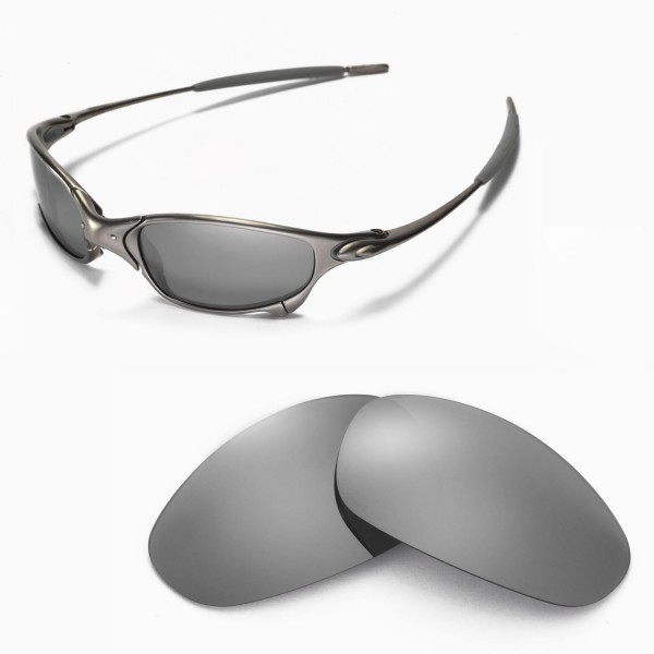 375500b4e3 Walleva Replacement Lenses for Oakley Juliet Sunglasses - Multiple Options  Available (Titanium Mirror Coated - Polarized). Color   Polarized Lenses    ...