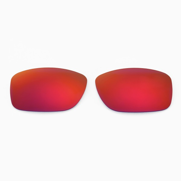 1faa88425ff66 Walleva Polarized Fire Red+Ice Blue Replacement Lenses for Oakley Jupiter  Squared Glasses. Color
