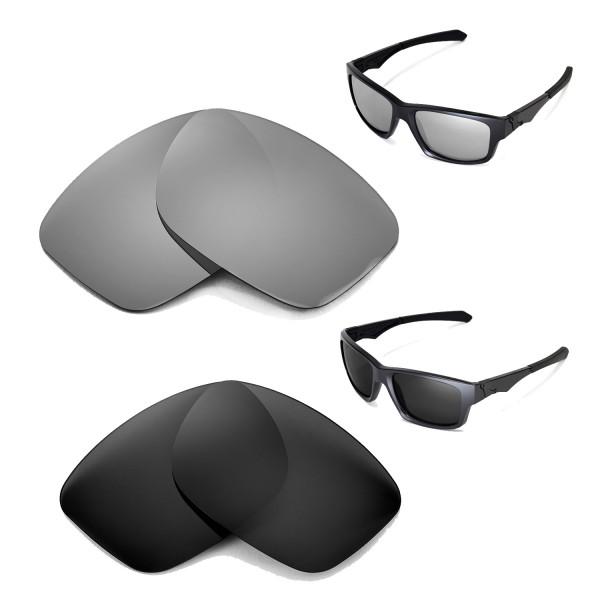 df4bc5eb99 Walleva Polarized Titanium+Black Replacement Lenses for Oakley Jupiter  Squared Glasses. Color