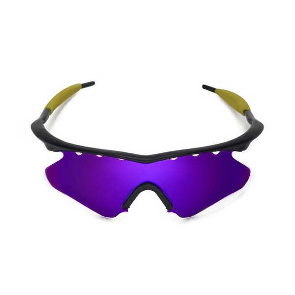 d410147434e New Walleva Purple Vented Polarized Replacement Lenses With Black Nosepad  for Oakley M Frame Heater Sunglasses. Color   Polarized Lenses   Purple