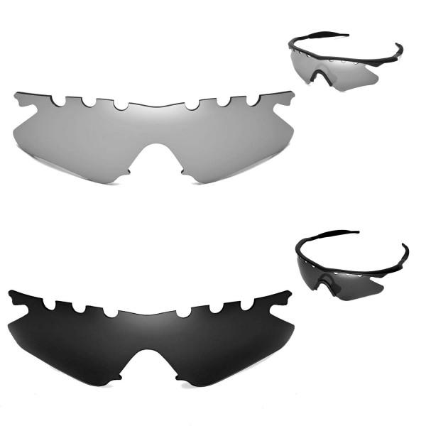 Walleva Polarized Black + Titanium Vented Replacement Lenses for ...