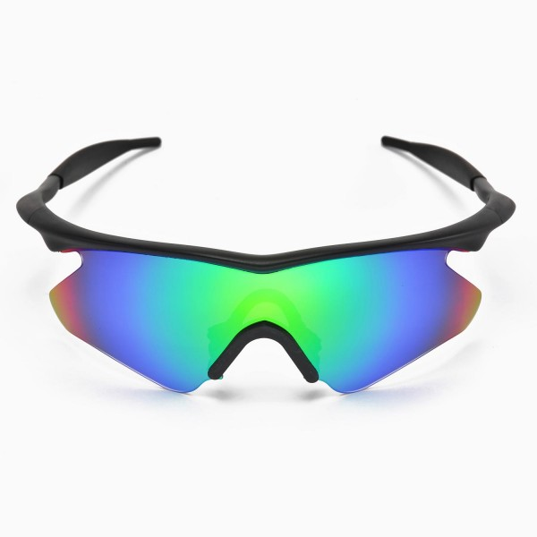 Walleva Replacement Lenses With Black Nosepad For Oakley M