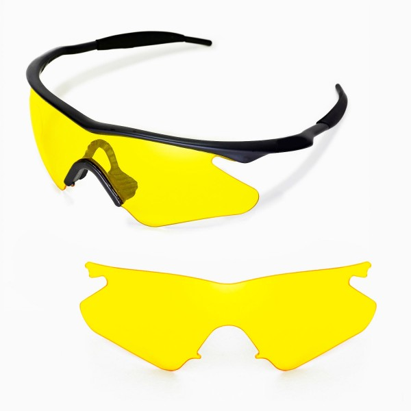 Walleva Yellow Replacement Lenses for Oakley M Frame Heater Sunglasses