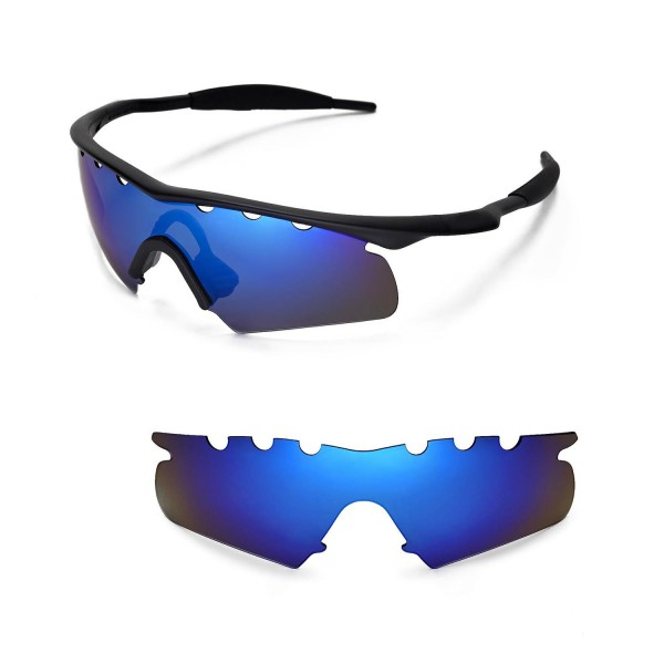 accfa303ff6 Walleva Polarized Ice Blue Vented Replacement Lenses With Black Nosepad for Oakley  M Frame Hybrid Sunglasses. Color   Polarized Lenses   Ice Blue