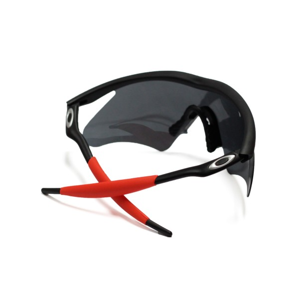 Walleva Red Earsocks And Gray Nose Pads For Oakley M Frame Sunglasses