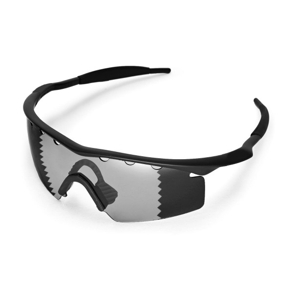 a0562fc6af New Walleva Transition Photochromic Vented Polarized Replacement Lenses  With Black Nosepad for Oakley M Frame Strike Sunglasses. Color   Polarized  Lenses   ...