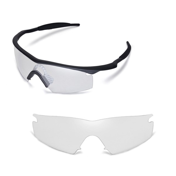 Walleva Clear Replacement Lenses With Black Nosepad For