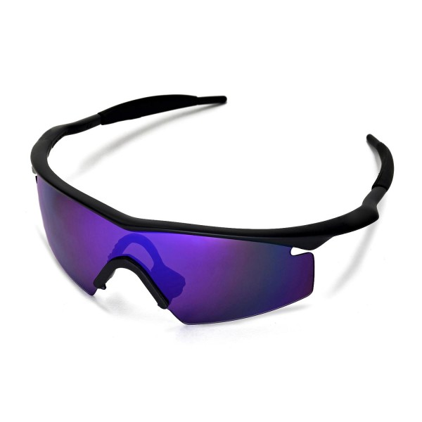 Walleva Polarized Purple Replacement Lenses With Black