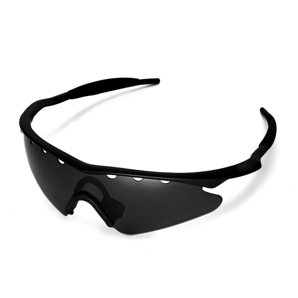 Walleva Polarized Black Vented Replacement Lenses With Black Nosepad ...