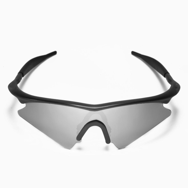 Walleva Polarized Titanium + Black Replacement Lenses for Oakley M ...