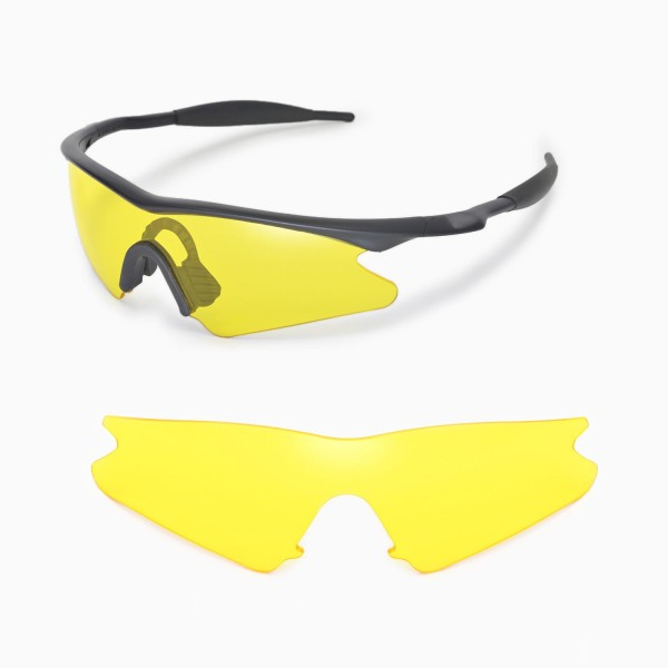 Walleva Yellow Replacement Lenses for Oakley M Frame Sweep ...
