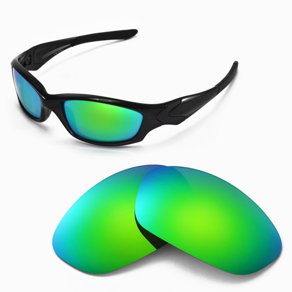 b56f1d0895 Walleva Replacement Lenses for Oakley Straight Jacket Sunglasses - Multiple  Options Available (Emerald Mirror Coated - Polarized). Color   Polarized  Lenses ...
