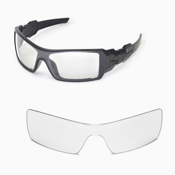 c6e0a0a596 Walleva Clear Replacement Lenses For Oakley Oil Rig Sunglasses