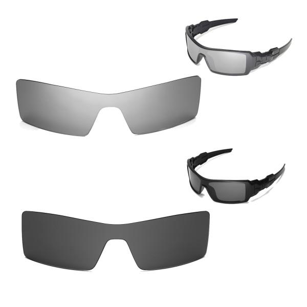 a0347ca6b5a44 Walleva Titanium + Black Polarized Replacement Lenses For Oakley ...