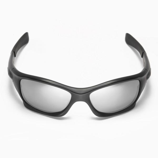 ac3a59c112 Walleva Polarized Titanium + Black Replacement Lenses for Oakley Pit Bull  Sunglasses
