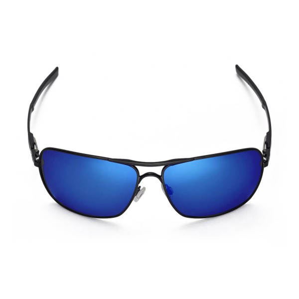 d9892a8993c Walleva Polarized Fire Red + Ice Blue Replacement Lenses for Oakley  Plaintiff Squared Sunglasses